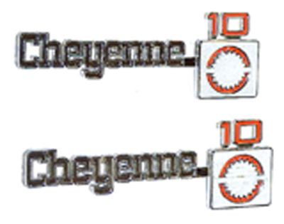 Sell 1975 1976 1977 1978 1979 1980 Front Fender Emblem Cheyenne 10 GM NOS Chevy Truck motorcycle in Denton, Texas, US, for US $214.00