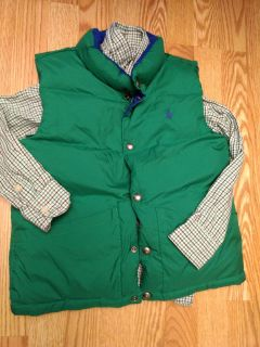 Euc Ralph Lauren polo reversible(blue/green) vest with Chaps button up size small (8-10)