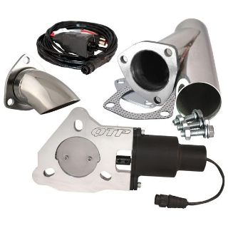 """Buy QTP QTEC25CPSK1 2.5"""" Electric Exhaust Valve Stainless Cutout & Turn Down motorcycle in Suitland, Maryland, US, for US $256.88"""