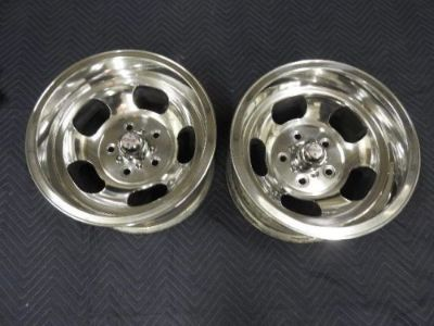 Sell PAIR OF VINTAGE15X8.5 US MAG POLISHED LUG MAGS CHEVY,GMC TRUCK 5 ON 5 C-10 motorcycle in Valley Center, California, United States, for US $399.99