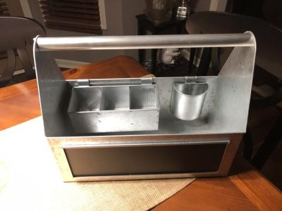 New Galvanized Steel Tote with Chalkboard