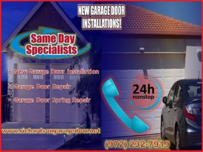 Same Day! Garage Door Installation Service ($25.95) Richardson, TX