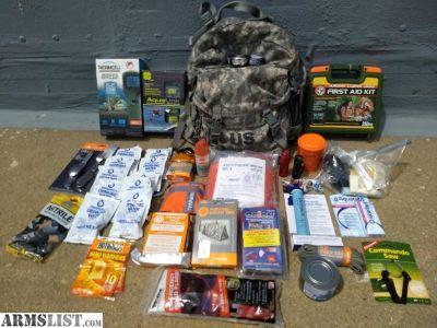 For Sale: Emergency Disaster Preparedness Survival Kit, Bug Out Bag.
