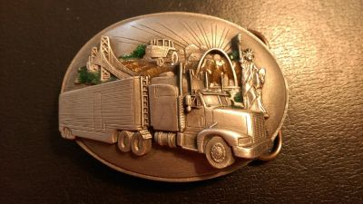 1988 Siskiyou truckers belt buckle
