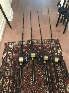 (4) Shimano TLD 30A 2speeds with Rods
