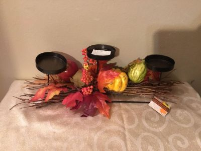 New Thanksgiving centerpiece candle holder Decor TB *crosspsted