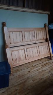 Queen headboard and footboard with box spring