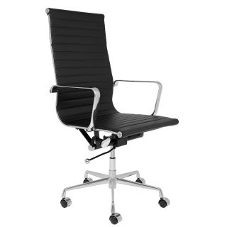 SOHO Tall Back Ribbed Management Chair (Black)