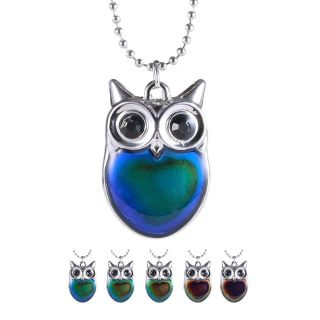 SMALL CUTE OWL MOOD NECKLACE
