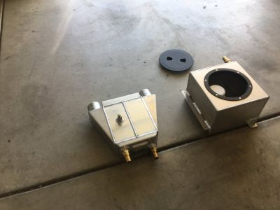 intercooler and water tank with pump