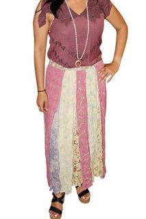 Long Flared Skirts Women's Embroidered Maxi Skirt