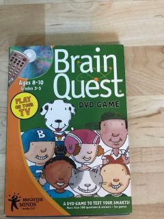 Brain Quest DVD Game Ages 8 to 10 Play on your TV
