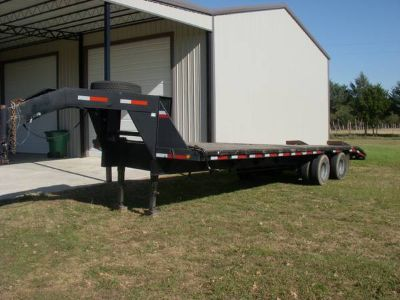Big Tex Dual Tandem Gooseneck Trailer, 24  4, 10K Dexter Axles