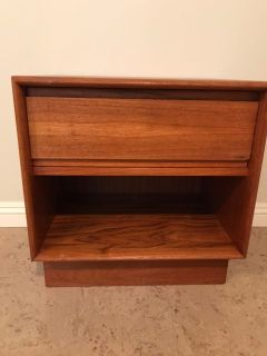 Well-made mid-century modern teak night table