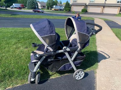 Chico double stroller