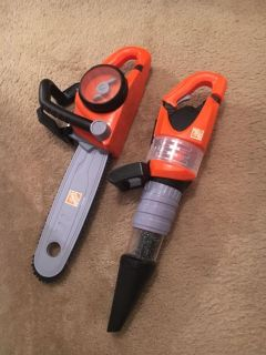 Home Depot blower and chainsaw