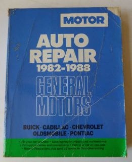 Find Motor Auto Repair Manual 1982 1988 General Motors Buick Cad Chevy Olds Pontiac motorcycle in Neshkoro, Wisconsin, United States, for US $4.75