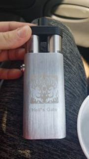 silver and black box mode hells gate vape