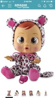 New in Box Cry baby doll interactive toy