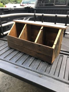 Heavy Wood Box. Perfect for Plants, Tools or Storage