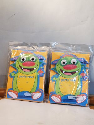 American Greetings - Party Invitations - Monster - 2 Packs of 8 (16 Total)