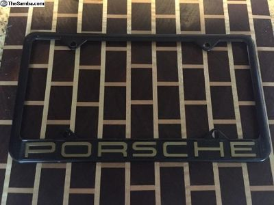 Vintage Aluminum Porsche License Plate Frame