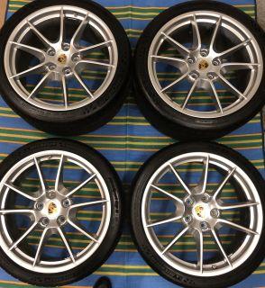 "OEM Carrera S Wheel Tire Set 20"" Narrow Body 991 Michelin Pilot Sport Cup 2 like new"
