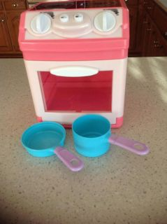 Toy Stove With 2 Pots - Burners Light Up