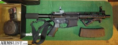 "For Sale: Ar 15 Pistol 7.5"" barrel w/ D60 60 round drum"