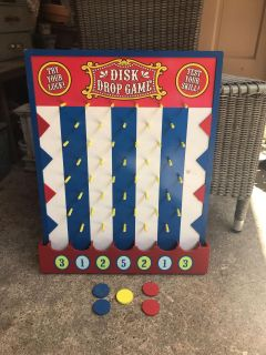 Wooden Disk Drop Carnival Game