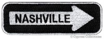 Sell NASHVILLE ROAD SIGN BIKER PATCH embroidered iron-on MOTORCYCLE VEST EMBLEM new motorcycle in Austin, Texas, United States