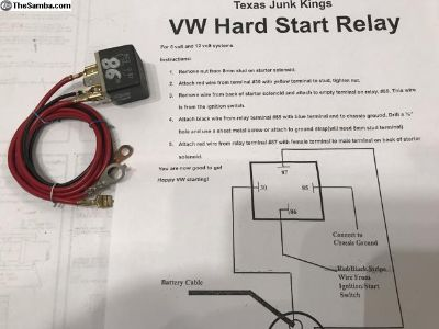 VW Hard Start Relay 12V Instructions