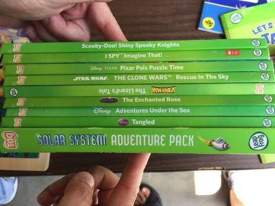 Group of 9 Leap Frog Tag books