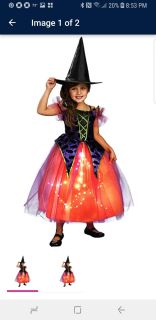 Girls Small Witch Costume