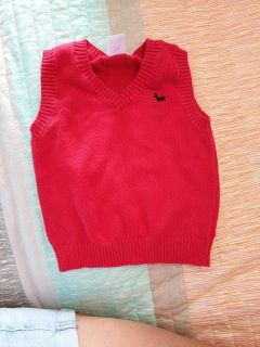 12 mo red sweater vest