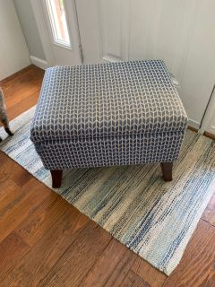 Project Storage Ottoman- Needs to be reupholstered