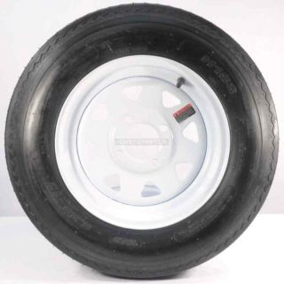 "Find TWO TRAILER TIRES & RIMS 5.30-12 530-12 5.30 X 12 12"" 4 LUG WHEEL WHITE SPOKE motorcycle in Naples, Florida, US, for US $92.69"