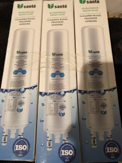 New 3 pack water filters