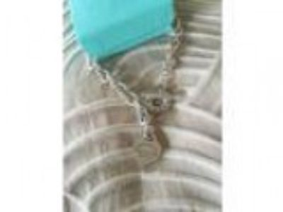 Authentic tiffany and co heart tag necklace