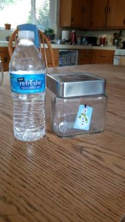Snowman glass container