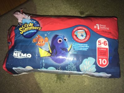 Little Swimmers size 5-6 (32+ pounds). One missing. Cross posted. FCFS. $5