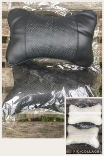 Set of 2 NEW Headrest Neck Support Pillows, straps around headrest of your vehicle
