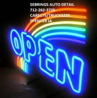 ROGER SEBRINGS AUTO DETAILING 712-262-3725 SHOP 11 W2ND ST SPENCER IOWA CARS 175/ TRUCKS 225/ SUVS22