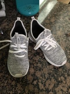 Adidas shoes size 7 but run more like an 8