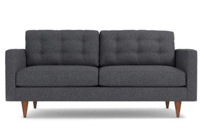 mid century modern gray 3-seater sofa