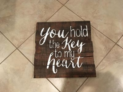 """New """"You Hold the Key to My Heart"""" Wood Wall Decor"""