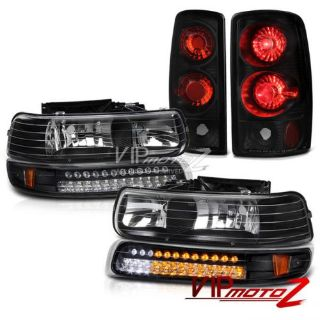 Find 2001-2006 Chevy Suburban Z71 Black Headlight LED Signal Bumper+ Rear Brake Light motorcycle in Walnut, California, United States, for US $191.94
