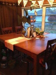 Table and 4 chairs-Counter Height
