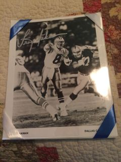 Troy Aikman signed picture