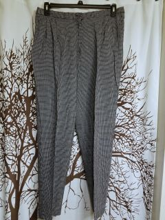 The Villager brand black and white check elastic waist dress pants women's plus size 22w